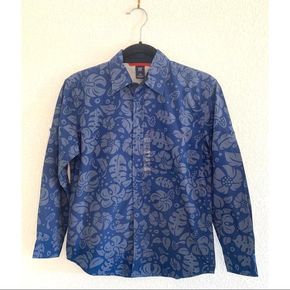 GAP Other - GAP Kids Hawaiian print collared shirt size large